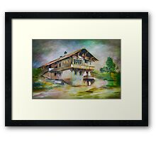 German cottage..... Framed Print