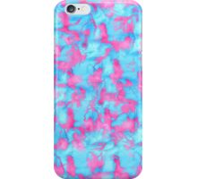 Neon Pink and Blue Paint Splatters iPhone Case/Skin