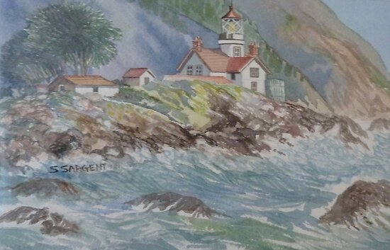 Battery Point Lighthouse by Sally Sargent