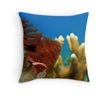 Christmas Tree Worm Throw Pillow