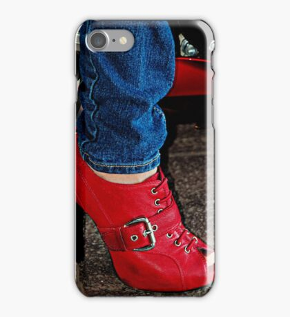 Motorcycle Bootie iPhone Case/Skin