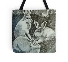 Four Bunnies Tote Bag