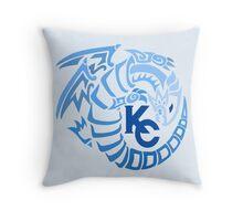 Blue Eyes White Dragon - Gradient Blue Throw Pillow