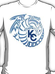 Blue Eyes White Dragon - Gradient Blue T-Shirt