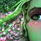 The Flower Mistress in Green by Barbora  Urbankova