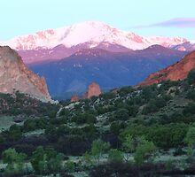 A Pikes Peak Sunrise by Eric Glaser