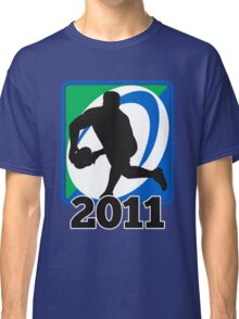 rugby player running passing ball Classic T-Shirt