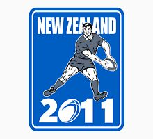 new zealand 2011 rugby player passing ball Unisex T-Shirt