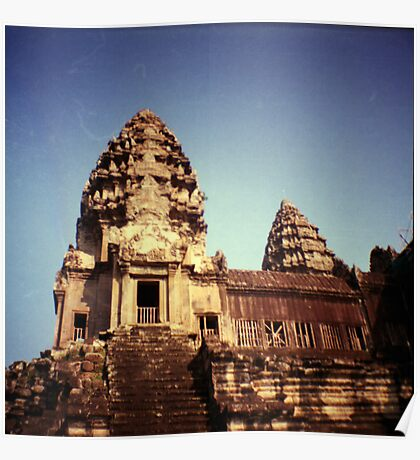 angkor wat, siem reap, cambodia Poster
