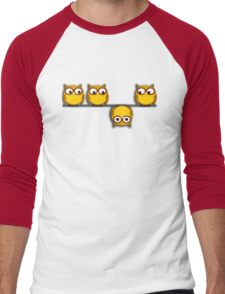 A whole new perspective for the owl Men's Baseball ¾ T-Shirt