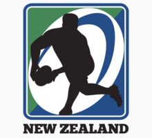 New zealand rugby player passing ball by patrimonio