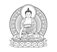 buddha outline Photographic Print