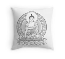 buddha outline Throw Pillow