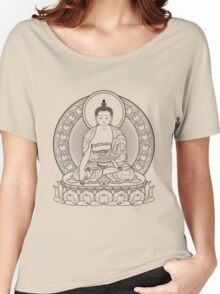 buddha outline Women's Relaxed Fit T-Shirt