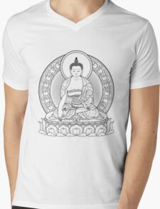 buddha outline Mens V-Neck T-Shirt