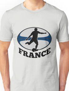 France rugby player running kicking ball Unisex T-Shirt
