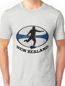 New Zealand rugby player running kicking ball Unisex T-Shirt