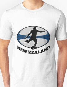 New Zealand rugby player running kicking ball Unisex T-Shirt
