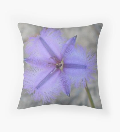 Rare Fringe Lily Throw Pillow