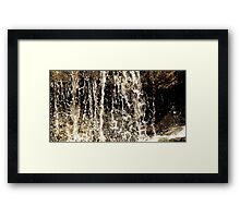 A Waterfall of Relief Framed Print