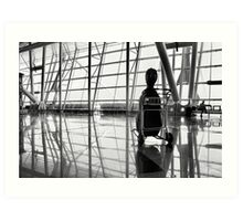 Airport music Art Print