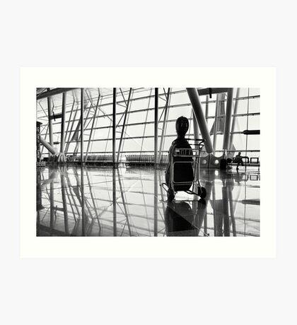 Airport music Art Print
