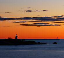Gloucester Harbor - Ten Pound Island and Dogbar Breakwater by Steve Borichevsky