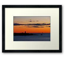 Gloucester Harbor - Ten Pound Island and Dogbar Breakwater Framed Print
