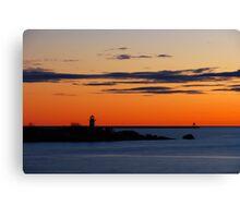 Gloucester Harbor - Ten Pound Island and Dogbar Breakwater Canvas Print