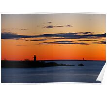 Gloucester Harbor - Ten Pound Island and Dogbar Breakwater Poster