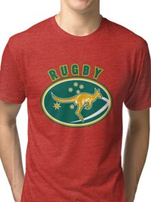 Rugby Wallabies Australia Tri-blend T-Shirt