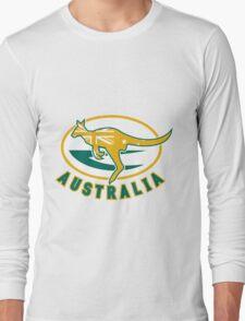 Rugby Wallabies Kangaroo Australia Long Sleeve T-Shirt