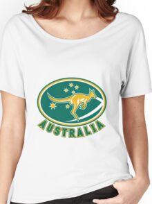 Rugby Wallabies Kangaroo Australia Women's Relaxed Fit T-Shirt