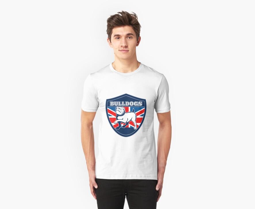 Proud English British Bulldog flag by patrimonio