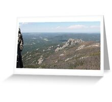 View from atop the world Greeting Card