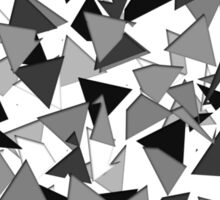 Modern Black, Grey, and White Geometric Triangles Sticker