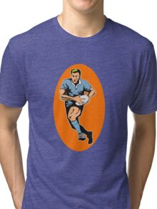 rugby player running with ball Tri-blend T-Shirt