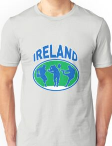 rugby player running passing ball Ireland Unisex T-Shirt