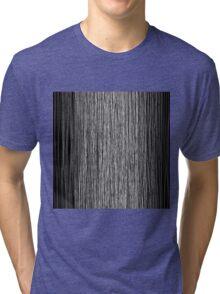 Modern Trendy Black and White Hand Drawn Line Art Tri-blend T-Shirt