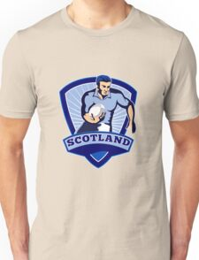rugby player running with ball scotland Unisex T-Shirt