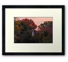 Autumn and an Old Farm House Framed Print