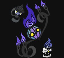 Flames of the Forgotten - Chandelure, Lampent and Litwick Unisex T-Shirt