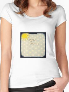 You are my sunshine Women's Fitted Scoop T-Shirt