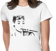 """I never thought I'd land in pictures with a face like mine."" - Audrey Hepburn Womens Fitted T-Shirt"