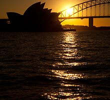 Sydney Opera House at sunset by Sean McDonald