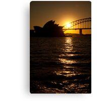 Sydney Opera House at sunset Canvas Print