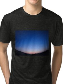 Clear skies over the city after sunset Tri-blend T-Shirt