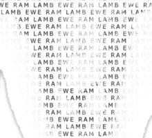 EWE RAM LAMB Sticker