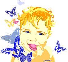 Blue-Eyed Baby by iskamontero