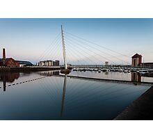 Swansea marina and millennium bridge Photographic Print